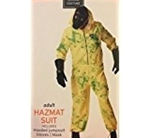 Mens MEDIUM 38-40 Yellow HAZMAT SUIT Costume Halloween Zombie Control Infection (Hazmat Suit Costume Halloween)