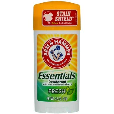 ARM & HAMMER Essentials Natural Deodorant Fresh, 2.50 Oz
