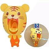 Cisixin Dispenser automatico per dentifricio per Bambino, Cartoon Tigre dentifricio Squeezer
