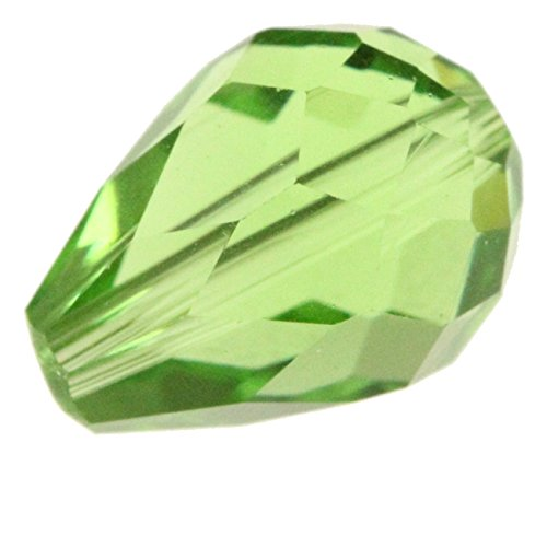 Crystal Ring Swarovski Peridot (50 8x6mm Adabele Austrian TearDrop Crystal Beads Peridot Compatible with Swarovski Preciosa Crystalized Beads 5500#SST-816)