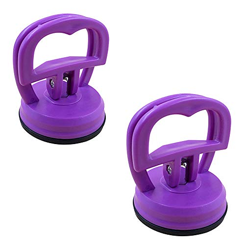 JumpyFire Heavy Duty Repair Suction Cups, 2 Pcs DIY Screen Opening Repair Tools, Suction Cup Puller Fit iMac, iPhone, iPad, Tablet Computer and Other LCD Glass Screen, Purple