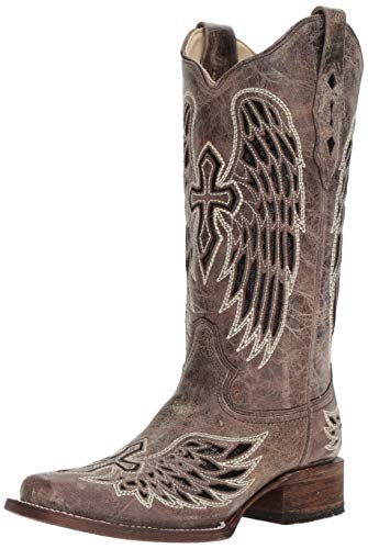 Corral Boots Women's A1197 Brown/Black 7.5 B US