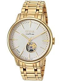 Men's Mulberry Swiss Automatic Watch with Gold Tone Strap, 19 (Model: 9603B)