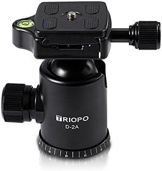 Moveski T268 Professional Aluminum Tripod Monopod with Ball Head for DSLR Camera Portable Travel Camera Tripod Stand