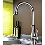 Centerset Single Handle One Hole with Ti-PVD Kitchen faucet Grey