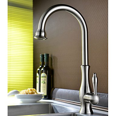 Centerset Single Handle One Hole with Ti-PVD Kitchen faucet Grey by Zheng