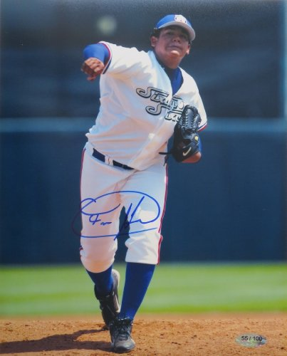 - Felix Hernandez Signed Minor League Authentic Autographed 8x10 Photo (Just Minors) #/100