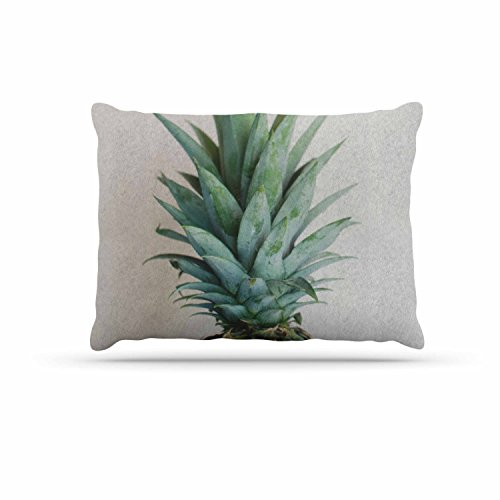 KESS InHouse Chelsea Victoria'' The Pineapple'' Green Gold Dog Bed, 30'' x 40'' by Kess InHouse