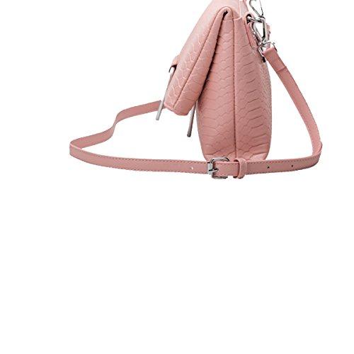 Bolsos Yy.f Hombro De La Manera Bolsos De Cuero Damas Cocodrilo Patrón Diagonal Bolsa Bolsa De Sólidos 3 Colores Bolsas Pink