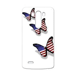 Fashion Lovely Butterfly Design The American Flag Into The Sky LG G3 Case Cover Shell(Laser Technology)