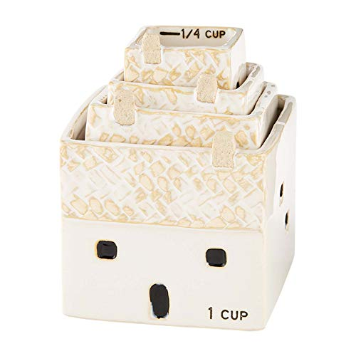 "Mud Pie White House Measuring Cups, 3"" x 3 1/4"", Tan"
