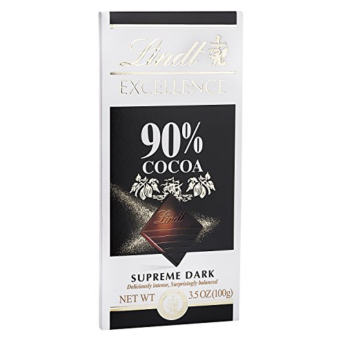 Lindt Excellence Supreme Dark Chocolate 90% Cocoa, 3.5-Ounce Packages ()