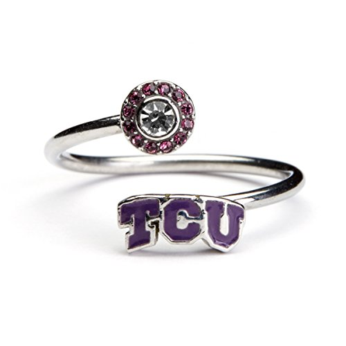 (Texas Christian University Ring | TCU Horned Frogs Ring - Block TCU | Officially Licensed TCU Jewelry)