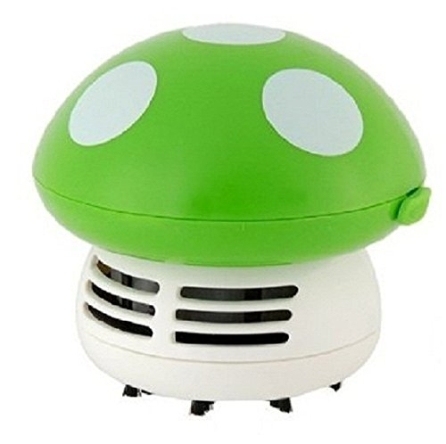 Rely2016 Mini Mushroom Shaped Table Desk Vacuum Dust Cleaner Vacuum Dust Sweeper (Green)