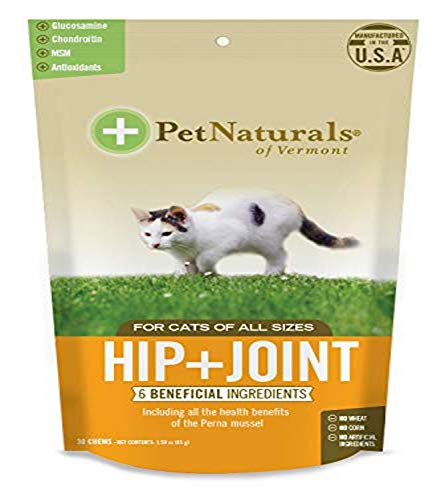 Pet Naturals of Vermont - Hip + Joint for Cats, Daily Hip & Joint Support Supplement, 30 Chews