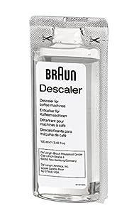 Braun BRSC003 2 x 100ml Ecodecalk Descaler for Coffee Machines, White from Braun