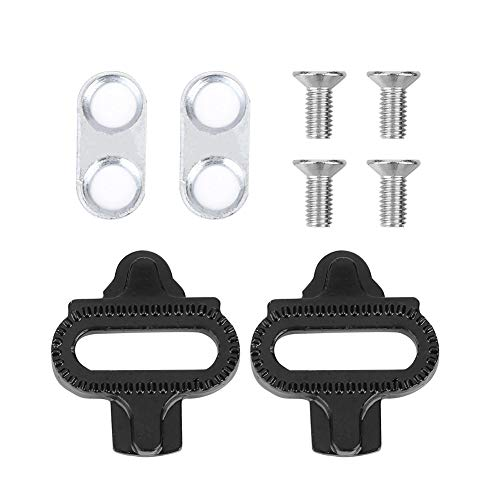 Keenso SPD Bike Mountain Bicycle Shoes Cleats Pedal Compatible with Indoor Cycling & Road Bike Bicycle Cleat Set