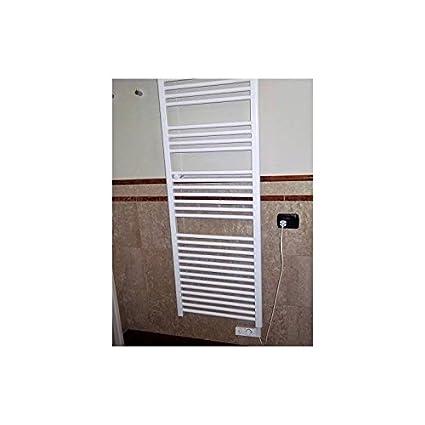 Radiador Toallero H920 X L480 calentador eléctrico blanco con termostato