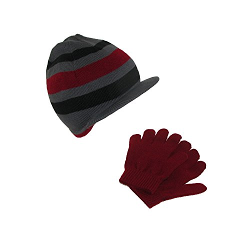 Dorfman Pacific Kids' Knit Radar Hat and Gloves Winter Set, (Dorfman Pacific Winter Beanie)