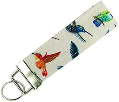 Fabric Key Chain Hummingbirds Key Fob