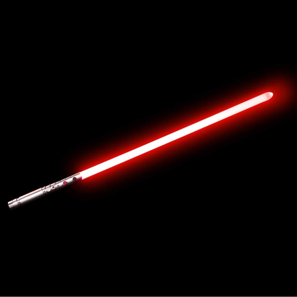 YDD Yddsaber Fx Lightsaber Toy Star Wars Saber Force Lightsaber with Sound and Light, Metal Hilt (Silver hilt red Blade)