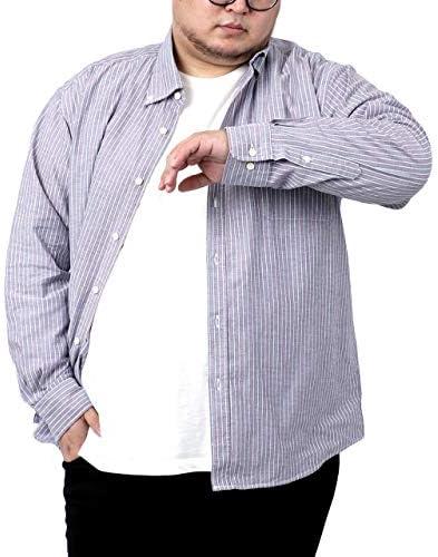 [カンタベリーウッド] 大きいサイズ メンズ シャツ ストライプ オックスフォードシャツ 長袖