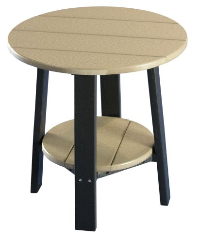 Deluxe End Table - Poly - Weatherwood & Black