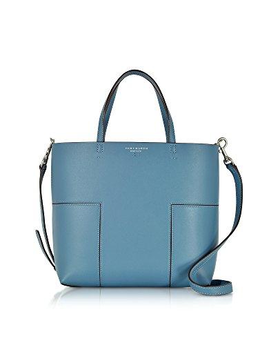 Tory Burch Borsa Shopping Donna 44614478 Pelle Blu
