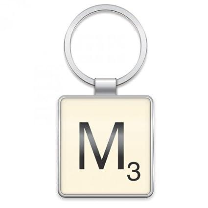 Scrabble - Llavero, diseño de ficha de letra M: Amazon.es: Hogar