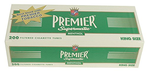 (50) Fifty Boxes of Premier Menthol - King Size Cigarette Tubes - FULL CASE! by Premier
