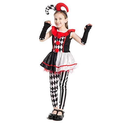 Scary Do It Yourself Halloween Costumes (ReneeCho Girl's Clown Halloween Costume,)
