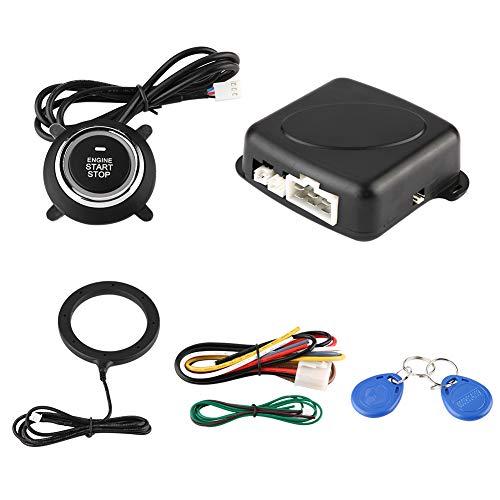 Sistema de seguridad de alarma de coche, sistema de alarma universal Botón de arranque Interruptor de empuje del motor Bloqueo de parada de arranque para protección antirrobo