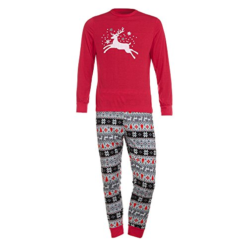 Inverlee Man Deer T Shirt Tops Blouse Pants Pajamas Christmas Set Family Clothes Outfits