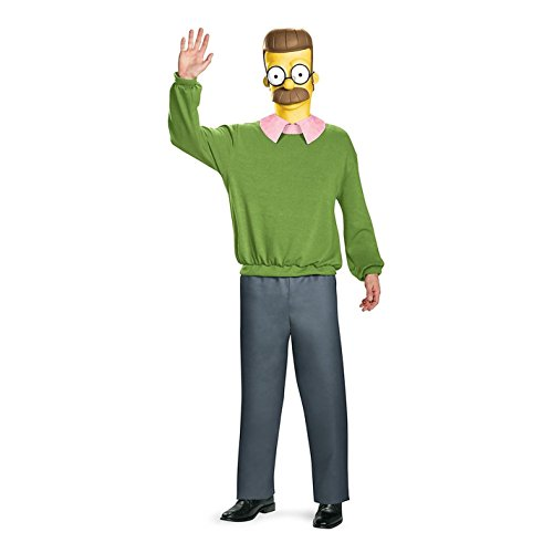 Disguise Men's Ned Flanders Deluxe Adult Costume, Multi, XX-Large (2)