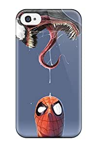 Snap-on Spiderman And Venom Case Cover Skin Compatible With Iphone 4/4s