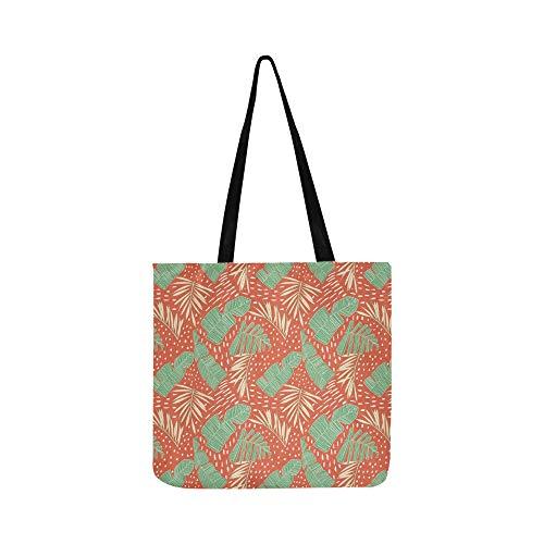 Tropical Flowers Jungle Leaves Bird Paradise Canvas Tote Handbag Shoulder Bag Crossbody Bags Purses For Men And Women Shopping Tote