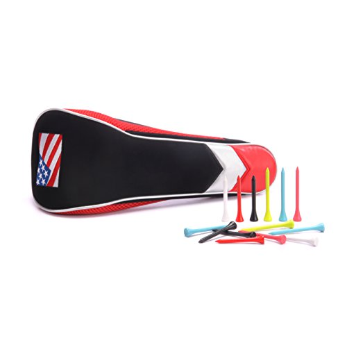 Golf Driver Cover with 30 Golf Tees Large 460cc Headcover with New USA Stars and Stripes Fits Taylormade Nike Callaway Titleist Mizuno Ping Unique Magnetic Closure Mechanism - Magnetic Closure Headcover