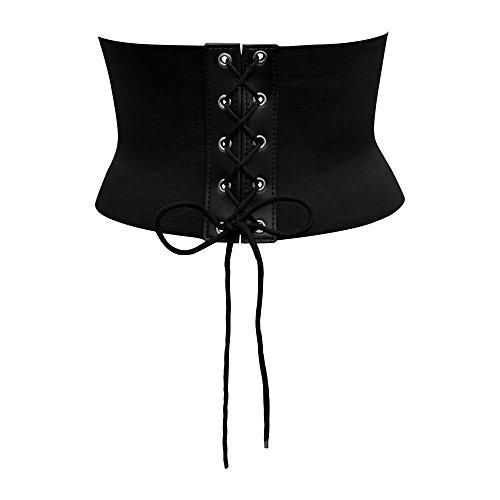 Black Butterfly 5.5 Inch Elastic Waist Corset Belt (Black, US 14 - 16) (Butterfly Elastic Belt)