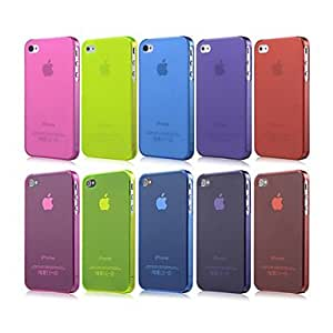 PEACH- ships in 48 hours Ultra-thin Grind Arenaceous Back Case for iPhone 4/4S(Assorted Color) , White