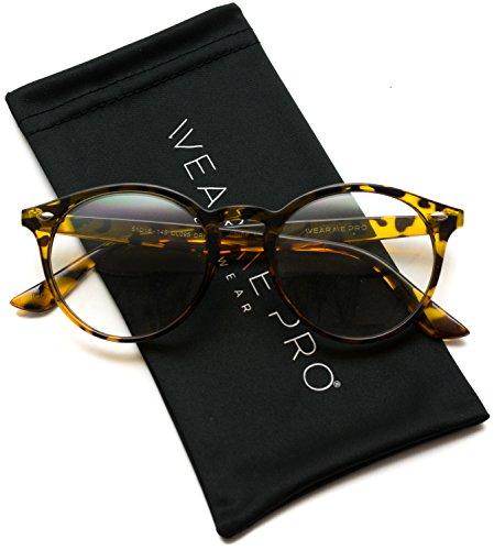 WearMe Pro - Prescription Round Clear Lens Plastic Fashion Glasses (Small Lens Clear)