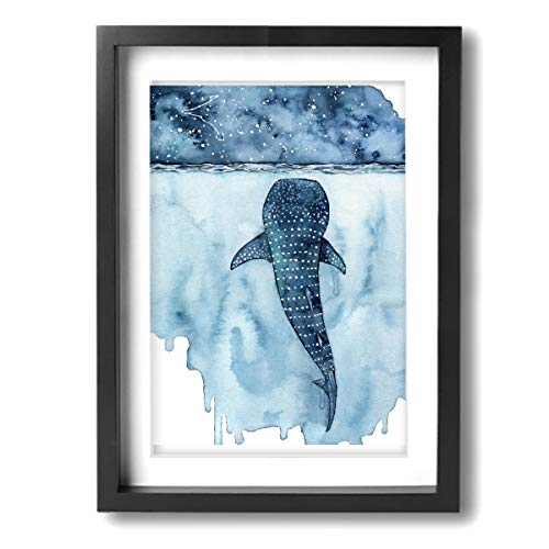 LP ART Watercolor Whale Shark Photo Print Art Poster Modern Home Decor Wall Art for Home or Office Decorations 12