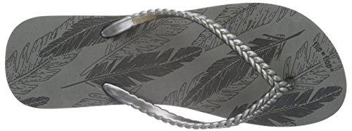 flip*flop Slim Feather - Sandalias Mujer Gris - Grau (Steel 017)