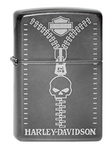(Zippo 60000876Windproof Lighter, Harley Davidson_Parent Zipper Skull)