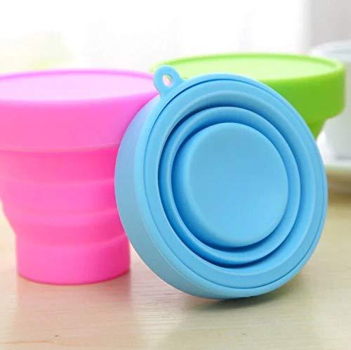 Mixtooltoys 4 pcs Agua de Silicona Plegable Port/átil Retr/áctil Botella de Agua Reutilizable Taza Vaso de Viaje Plegable sin BPA Ahorro de Espacio para Viaje