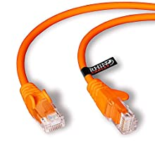 Rhinocables - Cable de Red RJ45 (Ethernet, Cat. 5e, 1 m), Color Naranja