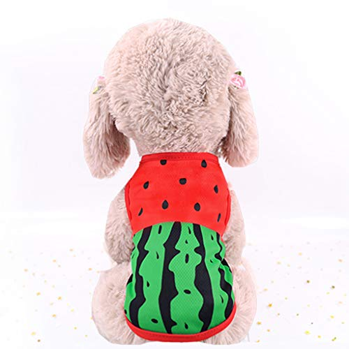youeneom Dog T-Shirt Apparel Cute Pet Dog Cat Puppy Cute Printed Short Sleeve Shirt Costume Clothes for All Dogs Halloween Christmas (S, Red)