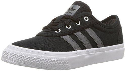 adidas Originals Unisex-Kids Adi-Ease Skate Shoe, Black/Grey/White, 3 M US Little (Girls Casual Skate Shoe)