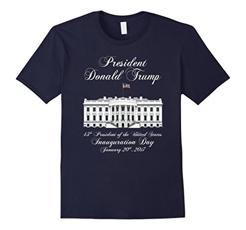 Men's President Donald J. Trump Inauguration Day 2017 T-shirt XL Navy