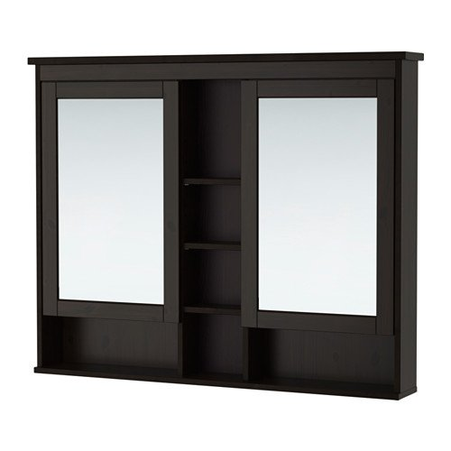 Ikea Mirror cabinet with 2 doors, black-brown stain 55 1/8x38 5/8 '', 38210.292911.1818 by ikeaa