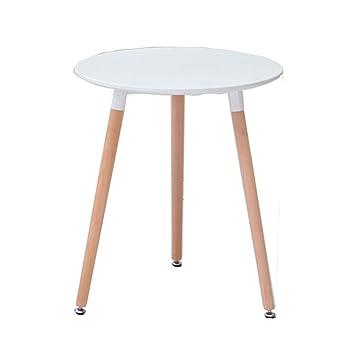 Amazon.de: LHA Küche Esstisch Runde Kaffeetisch Weiß Moderne ...